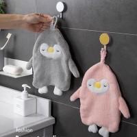 handuk lap tangan gantung penguin hanging towel hto009