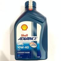 OLI SHELL ADVANCE AX7 4T 10W40 800 ML ORIGINAL BEBEK SPORT