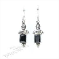 Anting Perak Asli Bali 925 Silver Earring Hanging Buda Black