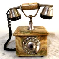 Rare Langka Vintage Lawas Telepon Telephone Putar Batu Marmer