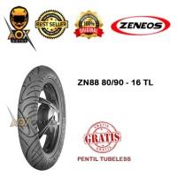 Ban luar motor matic 80/90-16 ZENEOS ZN88 tubeless, GRATIS pentil tbl