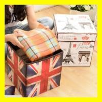 Storage Box Serbaguna Bangku Kotak Kursi Mainan Anak Box Organizer