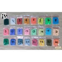 Refill 50pcs Mainan Round Aquabeads Aqua Bead Beads Isi Ulang