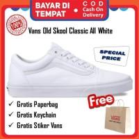 Vans Old Skool Original True White Sepatu Vans Pria Wanita Putih Murah