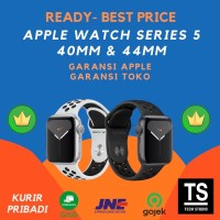 Apple Watch Series 5 NIKE 40mm 44mm 40 44 mm Grey Silver Sport Band - GRS APPLE INTER, 40MM WHITE
