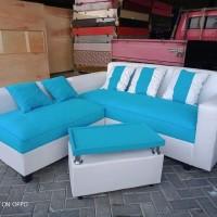 Sofa L Putus Minimalis + Meja (Harga Obral)