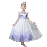 Kostum Frozen 2 Dua Elsa 29 Putih Ungu Dress Baju Anak Tangan Geber