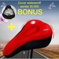 sarung jok sepeda gel empuk, cover saddle, sadel sepeda, cover sepeda