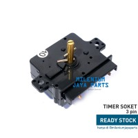 Timer Soket Mesin Cuci Pencuci SHARP 3 Pin - Timer Wash Socket 3 Skun