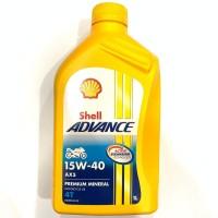OLI SHELL ADVANCE AX5 1 LITER 15W40 PREMIUM MINERAL ORIGINAL