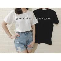 Kaos Wanita PREMIUM Lengan Pendek - Tshirt Distro Tumblr Tee-Giordano - Hitam