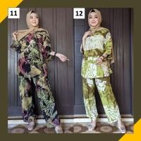 Baju Tidur Wanita Muslimah Set Piyama Celana Panjang Rayon Murah
