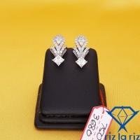 Anting Emas Model Klep Bunga Wajik Full Batu Emas Putih AN750368000
