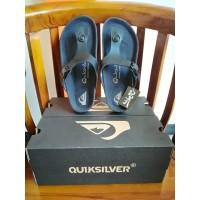 Sandal Quicksilver original warna hitam sendal pria dan wanita