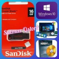 Flashdisk 16GB Installer Windows 10 32&64Bit UEFI Boot & Hiren Boot