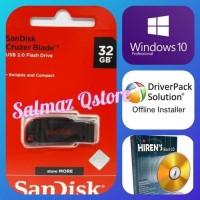 Flashdisk 32GB Installer Windows 10 32&64Bit UEFI Boot & Hiren Boot