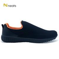 Sepatu Slip On Pria N-022 Black Orange - 39