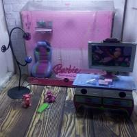 aksesoris boneka barbie original dream game room by mattel
