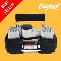Kompresor Mini Pompa Ban Mobil Double Cylinder Portable Bus Truk 12V
