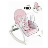 rocking chair baby right star 2 in 1/kursi ayun bayi/baby bouncer/PINK