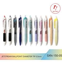 PEN NGEBUT Jetstream Uniball diameter tip 0.5mm tinta hitam SXN-150-05