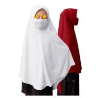Jilbab Masker Anak Perempuan Polos Basic