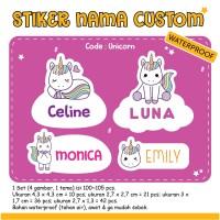 Stiker Nama Anak Custom / Label Nama Anak Murah Custom