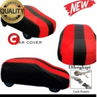 body cover/selimut mobil premium hitam merah mobil datsun go plus