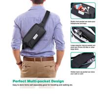 WIWU FANNY PACK/SLING BAG MULTI FUNCTIONAL WATER RESISTANT