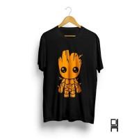 BIG SALE !!! Kaos distro pria / T-shirt pria / Baju pria Groot Black