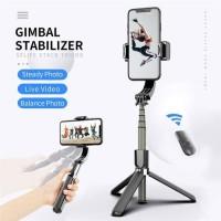 L08 Tongsis Gimbal Stabilizer Selfie Stick Tripod Smartphone Handheld