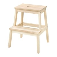 WM IK5592 B3KVM Bangku tangga kayu aspen solid tinggi 50 cm maks 100kg