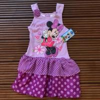 Baju Anak Cewek Disney Ungu Gambar Mini Mouse - Size 5 tahun