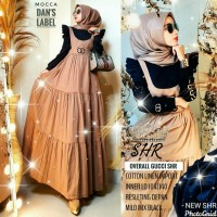 Baju overall wanita OVERAL GUCCI SHR mat caton linen import+inner