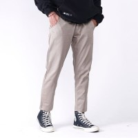 Ankle Pants Pria Chino Ankle Slimfit Dark Khaki Celana Sirwal Pria
