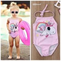 Baju Renang Bayi Anak Perempuan Unicorn Pink
