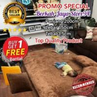 Karpet Bulu Rasfur 200x150x3,5cm / Surpet Cantik Best Seller - Abu-abu