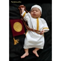 jubah gamis koko bayi baju muslim anak laki laki newborn aqiqah