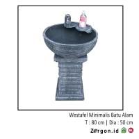 Westafel Minimalis - Bak Cuci Tangan - Westafel Batu Alam 1 Set Zorgon