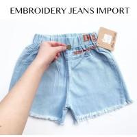 EMBROIDERY JEANS IMPORT jeans anak cewe perlengkapan babeebabyshop