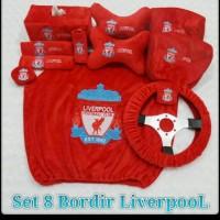 bantal mobil Liverpool 8 in 1 bordir