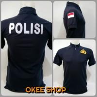 Kaos Baju Pria Polo Shirt POLISI Baju POLISI Navy