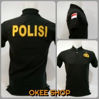 Kaos Baju Pria Polo Shirt POLISI Baju POLISI Hitam