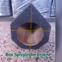 BOX SPEAKER SUBWOOFER 6 INCH CYLINDER MDF