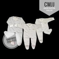 CHIYO CMJJ 3 set Jumpsuit Bayi 0-3 bulan Garis Salur Sleepsuit Jumper