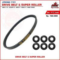 Paket Roller + Belt BRT Honda Vario 110- Scoopy FI -Beat FI - Spacy FI