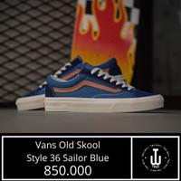 Vans Original |Vans Old Skool Style 36 Sailor Blue | Sepatu Vans Murah