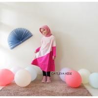 Baju Tunik Batik Anak Perempuan Pansy Series Pink motif Bata