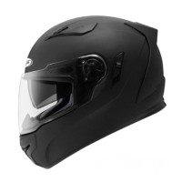 Helm Zeus ZS813 Matt Black Fullface Double Visor