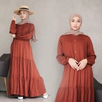 Baju Terusan Gamis Dress Wanita Rempel Home Dress Katun Rayon Premium